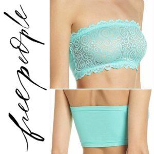 NWT Free People Blue Bandeau Lace Bralette